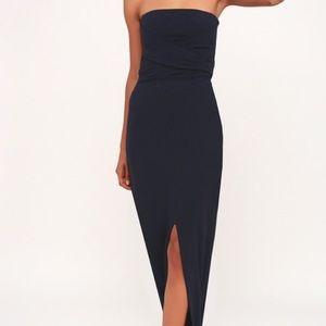 Lulus own the Night navy dress